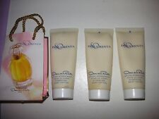 ! Oscar De La Renta SO Perfumed Body Lotion 3 X 1.5 oz +little shop bag!