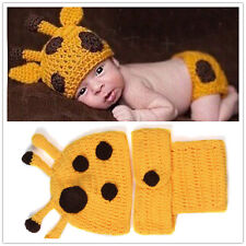 Crochet Baby Cap Diaper Costume Newborn Knitted Photography Prop Equipment Hot