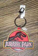NEW Universal Studios Large JURASSIC PARK T-Rex  Logo Authentic Key Chain