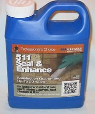 Miracle 511 SEAL & ENHANCE Tile Stone SEALER 1 Quart GRANITE Quartz Marble Slate