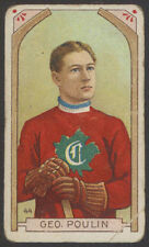 1911-12 C55 IMPERIAL TOBACCO HOCKEY #44 GEORGE POULIN MONTREAL CANADIENS RC