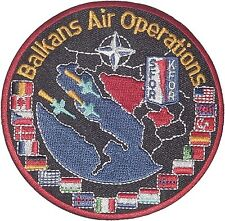 Écusson patch Aviation OTAN sfor KFOR Balkans Air Operations... a2199k