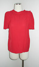 NWT MARNI RED VISCOSE CREPE SHOULDER DETAIL BLOUSE TOP 38