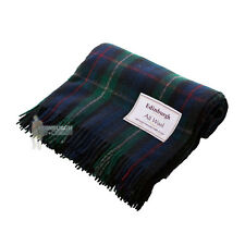EDINBURGH - PURE WOOL SCOTTISH TARTAN RUG / BLANKET /THROW - MACKENZIE