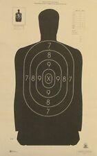 Shooting Paper Targets Official NRA Police Target Gun Rifle Pistol Range 50 Pack
