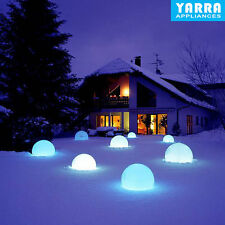 Waterproof Solar Powered LED Ball Light Outdoor Garden Path Way Lamp Decor