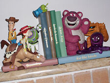 TOY STORY 3 BOOKENDS EXTREMELY RARE WOODY BUZZ JESSIE BULSEYE LOTSO NEW STATUE12