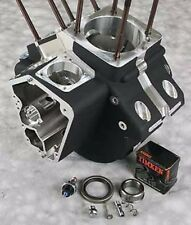 BLACK ENGINE CASE EVO HARLEY SOFTAIL FXST FXSTC HERITAGE FLST FAT BOY FLSTF