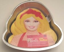 WILTON BARBIE CAKE PAN with Face Plate Decor & Instructions  NEW #2105-6065
