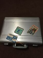 VINTAGE TOKYO LOCK ALUMINUM METAL BRIEFCASE SUIT CASE VERY COOL TRAVEL LABELS