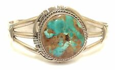 Beautiful Handmade Navajo Sterling Silver Royston Turquoise Bracelet- P. Sanchez