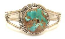 Beautiful Handmade Navajo Sterling Silver Royston Turquoise Bracelet- P. Sanchez