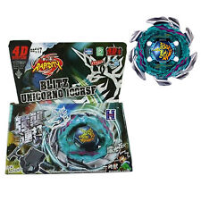 Beyblade BB117 Blitz Unicorno Striker 4D Metal Fight Master + Launcher Grip Set