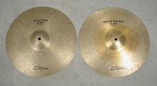 "ZILDJIAN NEW BEAT 14"" HI HAT CYMBALS PAIR SET"