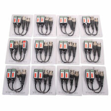 12Pairs 24pcs Coax CAT5 CCTV BNC Camera Video Channel Passive Balun Transceiver