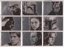 """Star Wars Galaxy 4 - """"Silver Foil Art Cards"""" Set of 15 Chase Cards #1-15"""