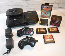 Sega CD Sega Genesis and Sega 32x Console Bundle 12 Games 2 Controllers Lot