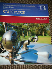 Brooks auction catalogue 2000 london rolls royce bentley cars S1 wraith phantom