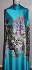 1ST QUALITY 100 % SILK FABRIC FOREST DESIGN SOLD BY THE YARD