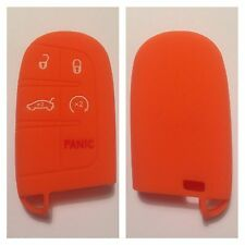 ORANGE JEEP DODGE CHRYSLER SMART CAR KEY COVER CASE 300C CHARGER GRAND CHEROKEE