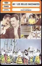 CARTE FICHE CINEMA 1954 AH LES BELLES BACCHANTES De Funes Dhéry Brosset