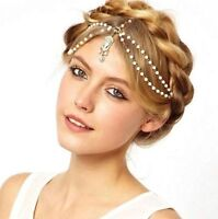 Women Head Chain Metal Rhinestone Headband Head Piece Hair band Charm Jewelry