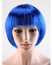 Top BOB Short Cosplay Wig Straight Cool Full Sexy Haircut Synthetic Party Dress