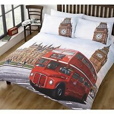 LONDON SINGLE DUVET COVER RED BUS BIG BEN