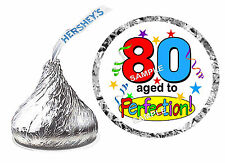 216 ~ 80th BIRTHDAY PARTY FAVORS HERSHEY KISS KISSES LABELS Design #3