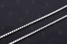 """925 Sterling Silver 16"""" 1mm Box Chain Necklace~ New"""
