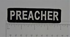 Preacher Club Harley Biker Funny Motorcycle Iron On Small Patch