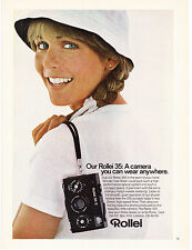 Original Print Ad-1978 Rollei 35:A Camera You Can Wear Anywhere-Girl/Hair Braids