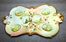 Antique Limoges Egg Tray Hand Painted Chicks French AK Limoges Easter Eggs
