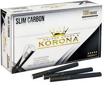 GOLDEN CROWN KORONA Cigarette Filter Tubes SLIM CARBON 120x2 +1x FILLING MACHINE