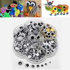 1 Box 5 to 12mm Round Wiggly Wobbly Googly Eyes Children Kids DIY Self Adhesive