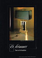 PUBLICITE ADVERTISING 014   1978   DRIMMER   l'art & la lumière lampes