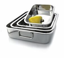 Stainless Steel Roasting/Lasagne Pan (33x23x7cm) FREE UK POSTAGE