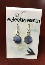 Eclectic Earth Blue Hill By Hand Sterling & Kyanite Earrings-Made Is USA-NWT
