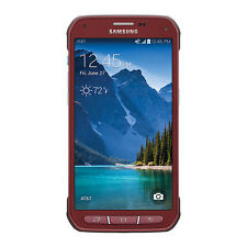 NEW Samsung Galaxy S5 Active SM-G870A UNLOCKED AT&T 4G LTE Smartphone - Red