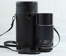 ASAHI PENTAX M42 200MM F4  SUPER-TAKUMAR CAMERA LENS WITH CASE