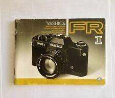 Yashica FR I / FR 1 Instruction OWNERS MANUAL -- GREAT CONDITION!