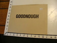 art catalog: GOODNOUGH, Sept. 20- Oct. 18, 1986, Klonaridis, Inc. Toronto