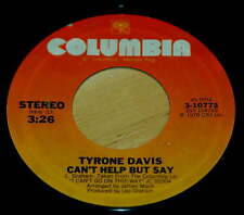 Tyrone Davis 45 Can't Help But Say / Bunky