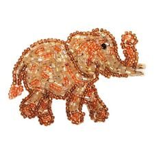 ID 8881 African Elephant Wild Zoo Circus Animal Beaded Iron On Applique Patch
