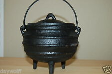 "RIBBED CAST IRON CAULDRON -3"" Altar Item, Witch Shop Wicca, Goddess,Rituals"