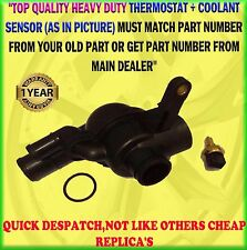 FOR MG ROVER 75 ZT 45 ZS 2.0, 2.5 KV6 THERMOSTAT & HOUSING + COOLANT SENSOR