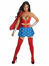 NEW Rubie's Wonder Woman Sexy Corset Adult Costume, Red/Blue, Size Medium (6-10)