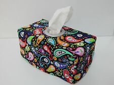 Bright Paisley Cadavera Tissue Box Cover With Circle Opening - Lovely Gift Idea