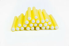 24 x  Yellow Soft Bendy Hair Rollers/Curlers - 15cm