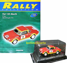 FIAT 124 ABARTH - Rallye de Portugal 1974 - 1/43 - RALLY COLLECTION n. 19